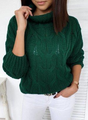 Maglione dolcevita verde bosco