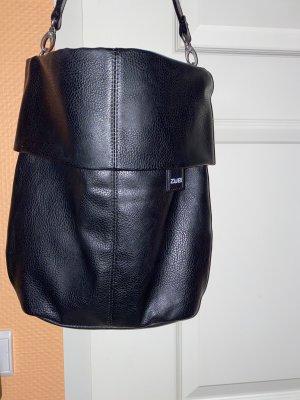 Neue Kunstleder Tasche Zwei schwarz