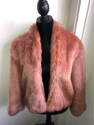 H&M Trend Manteau en fausse fourrure multicolore