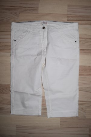 Pantalone a 3/4 bianco Cotone