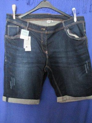 Giada Pantaloncino di jeans blu scuro Cotone