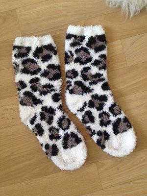 NEUE kuschelige dicke Socken Leopard #winter