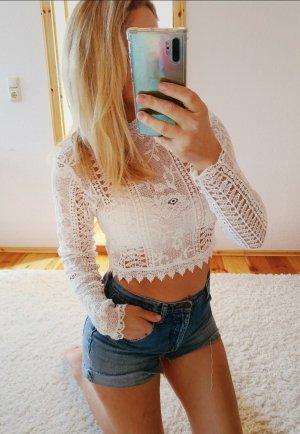 NEUE Lace Bluse Stickerei Lochstickerei Trend Blogger Musthave