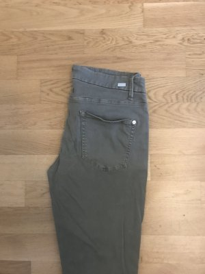 Cambio Straight Leg Jeans olive green