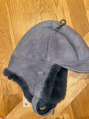 Emu Chapeau en fourrure gris cuir
