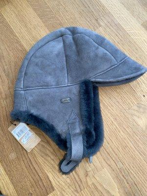 EMU Australia Futrzana czapka ciemnoszary Skóra