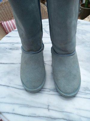 unbekannte Fur Boots light blue
