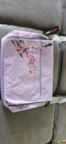 Neue Laptop Tasche mit Etikett lila flieder