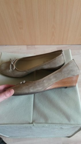 Mary Jane Ballerinas oatmeal leather