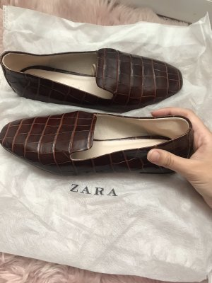 Zara Basic Mocasines marrón-negro