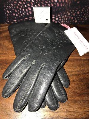 Guanto in pelle nero Pelle