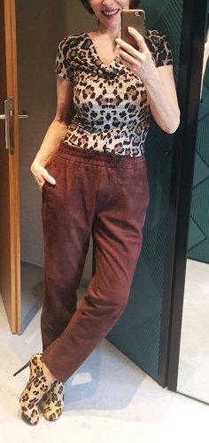 Neue Lederhose von Turnover, Gr. 36 , braunes Rauleder