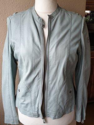 Mauritius Leather Jacket azure leather