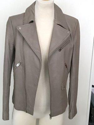 Neue Lederjacke Zara Gr M beige taupe Blogger Jacke Blazer