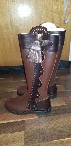 Botki w stylu western brązowy