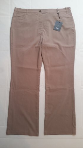 b.p.c. Bonprix Collection Jersey Pants beige viscose