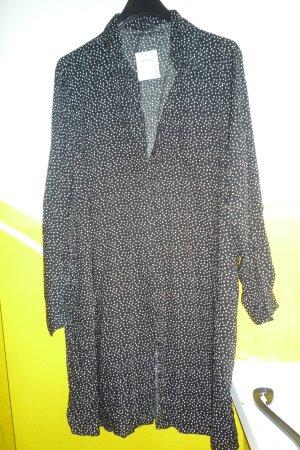 Long Blouse black-white cotton
