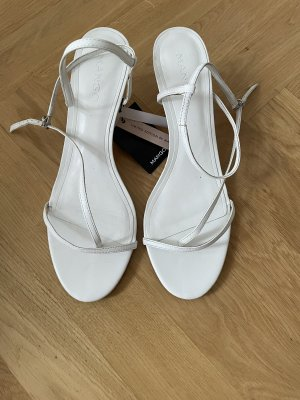 Neue Mango Sandalette Gr. 41 Leder weiß