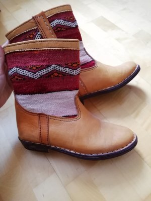 Buskins multicolored leather