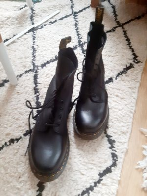 Doc Martens Bottes à lacets noir cuir