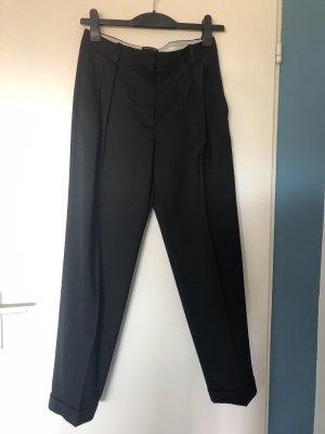 Massimo Dutti Spodnie z zakładkami czarny