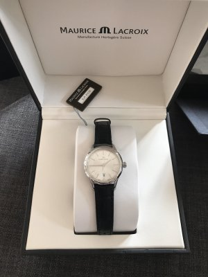 Maurice Lacroix Horloge met lederen riempje zwart
