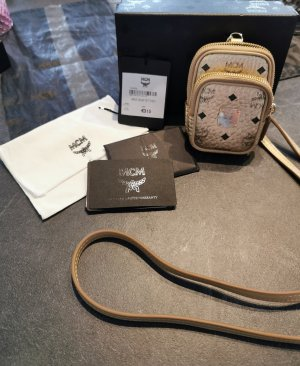 MCM Mini Bag gold-colored-sand brown leather