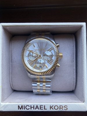 Neue Michael Kors Serie Lexington Modell MK5955 Silber Gold Blogger eyecatcher