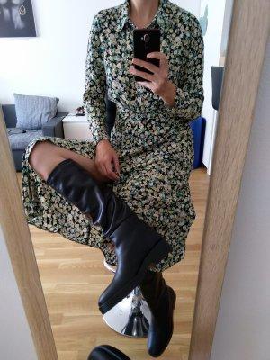 Zara Bottes plissées noir