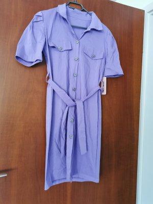 aus Italien Robe chemise violet