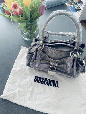 Neue Moschino Handtasche in grau Silber