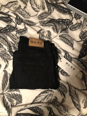 Nakd Hoge taille jeans zwart