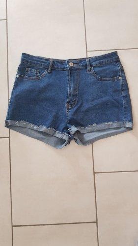 SheIn Pantalón corto de tela vaquera azul acero