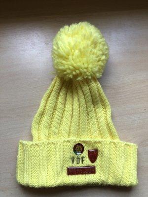 Nickelson Sombrero de punto amarillo
