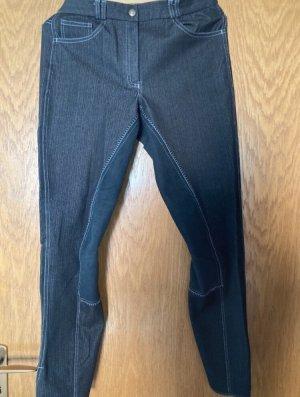 Pantalon d'équitation gris anthracite-noir