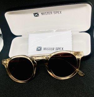 Neue nudefarbene Sonnenbrille mit Rechnung von Mister Spex