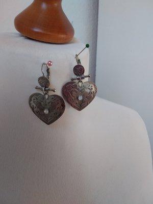 Zilveren oorbellen zilver-lichtgrijs