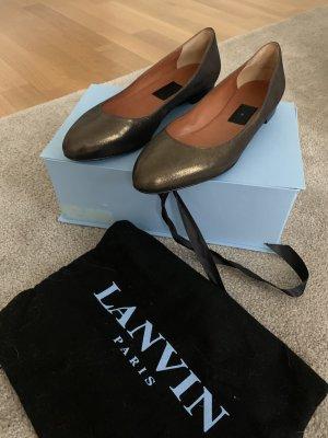 Lanvin Ballerina's met kant goud