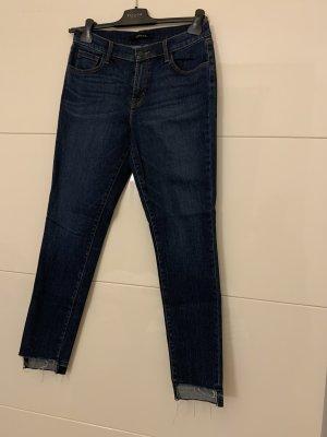 JBRAND Jeansy z prostymi nogawkami ciemnoniebieski