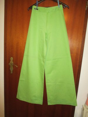 Flares meadow green cotton