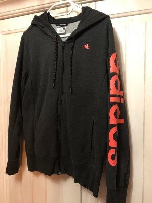 Adidas Smanicato con cappuccio nero-arancione