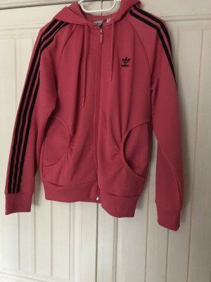 Adidas Originals Smanicato con cappuccio nero-fucsia neon Cotone