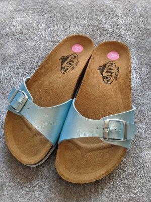 Plakton Wedge Sandals light blue