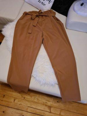 B.young Spodnie z zakładkami piaskowy brąz