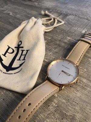 Paul Hewitt Horloge met lederen riempje veelkleurig