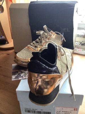 Neue Philippe Model Sneaker, Gold, Größe 41 mit Originalkarton