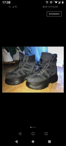 Buffalo Gothic Boots black-anthracite