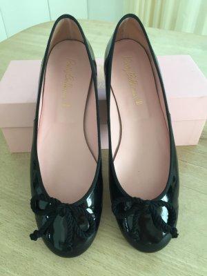 Pretty ballerinas Ballerines en cuir verni noir cuir