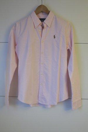 Neue Ralph Lauren Oxford Bluse Slim Fit rosa gestreift Gr.6