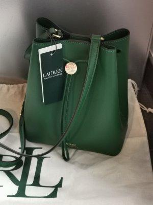 Neue Ralph Lauren Tasche Bucket Bag grün mit Etikett
